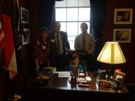 Sitting at Congressman Meadows desk.