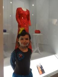Mrs. Bush's red dress was her favorite.