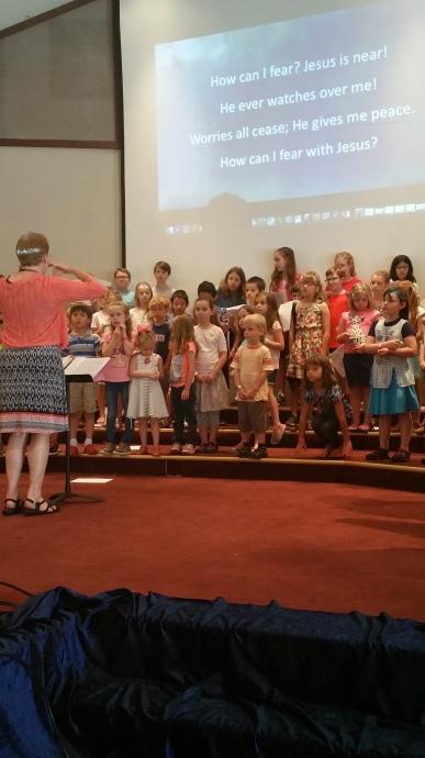Choir practice with Dr. Eubanks.
